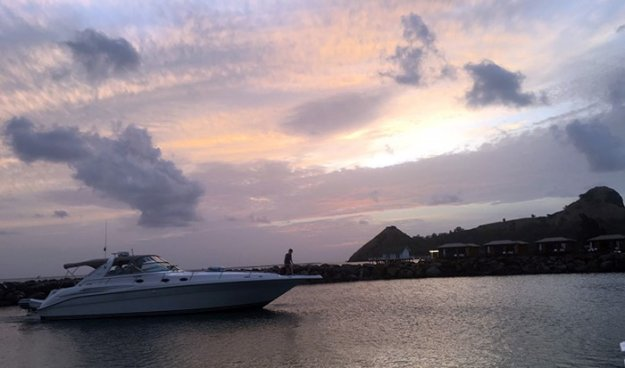 Yachts, sailboats and scuba and dive boats ply the shores of St. Lucia or go to other nearby islands
